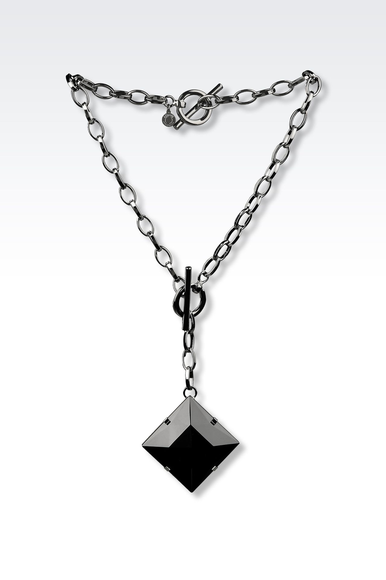 NECKLACE BRACELET WITH GLASS PENDANT: Necklace Women by Armani - 0