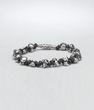 Nero Intrecciato Oxydized Silver Nappa Bracelet
