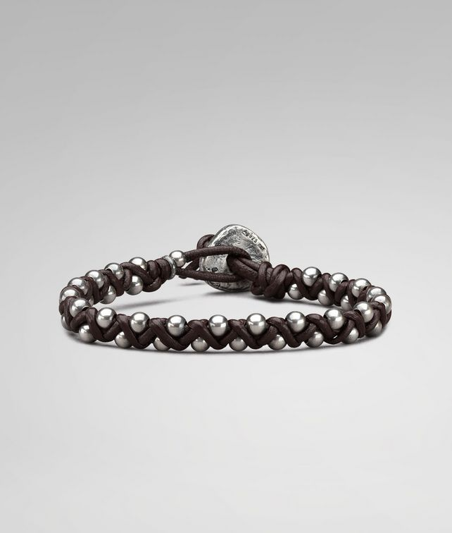 BRACELET IN EBANO NAPPA AND SILVER