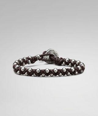 Ebano Oxydized Silver Nappa Bracelet
