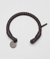 Bracelet en nappa intrecciato ebano