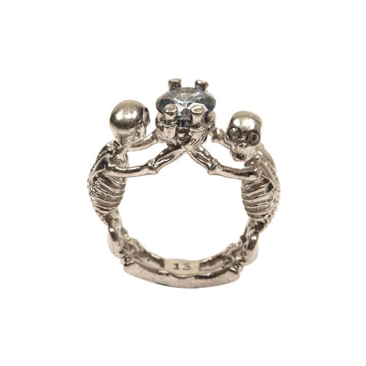 Alexander McQueen, Twin Skeleton Jewel Ring