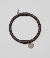 Armband aus Nappaleder Intrecciato Ebano