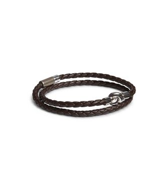 ERMENEGILDO ZEGNA: Bracelet Dark brown - 50148361SF