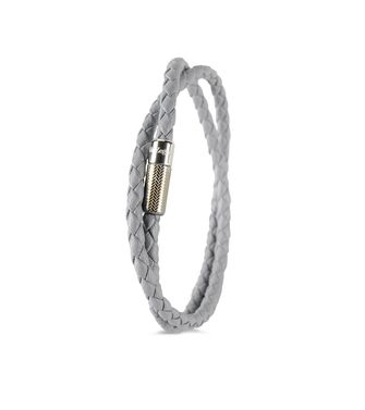 ERMENEGILDO ZEGNA: Bracelet Grey - 50148371TH