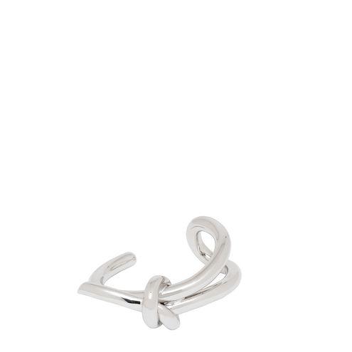 Balenciaga Silver Lace Up Asymetric Bracelet