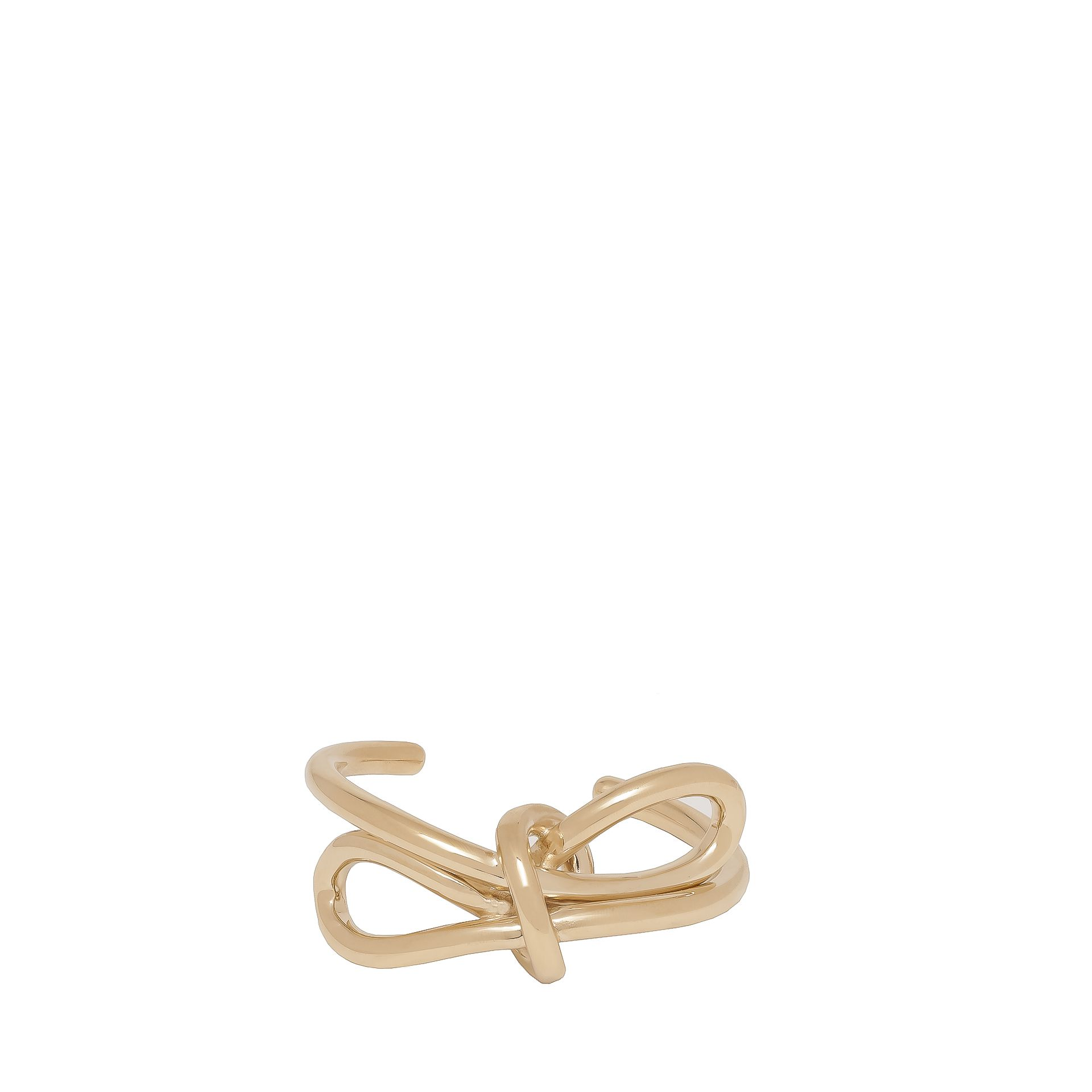 Balenciaga Gold Lace Up Bow Bracelet