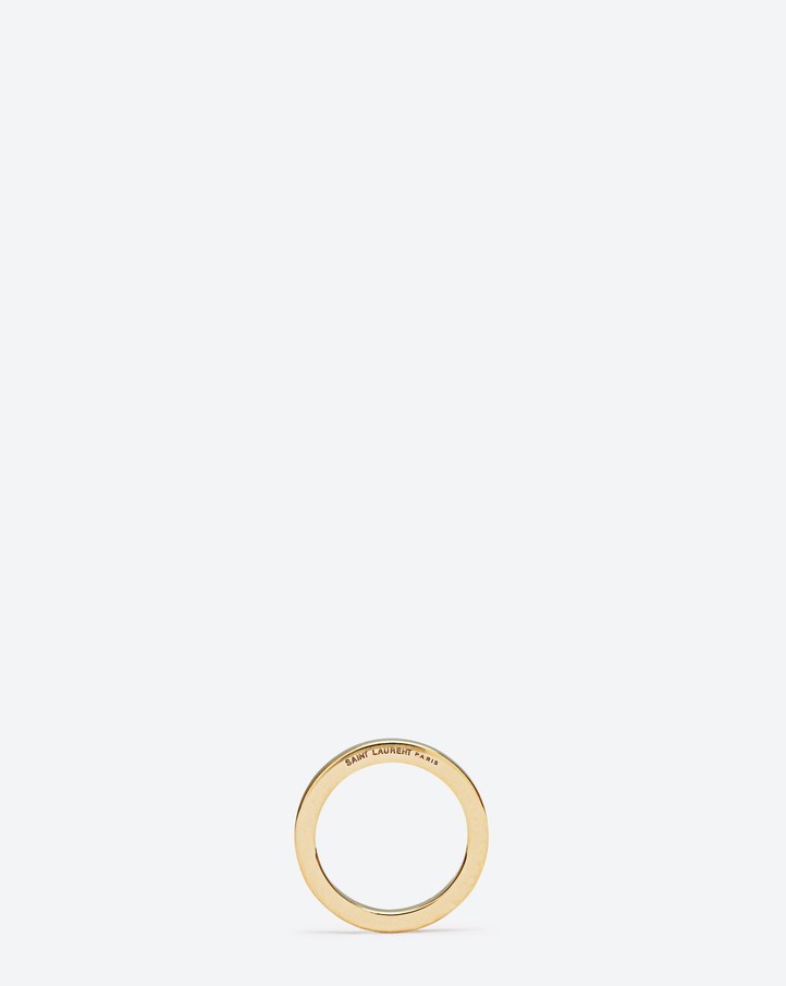 ARMURE FIL CARRÉ Ring In gold vermeil