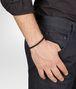 BOTTEGA VENETA BRACELET IN NERO INTRECCIATO NAPPA AND SILVER  Bracelet U ap