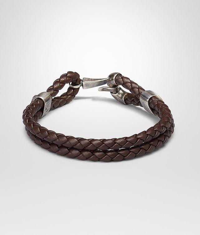 Ebano Intrecciato Oxidized Silver Nappa Bracelet