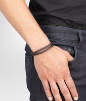 Bracelet Ebano en argent oxydé et nappa Intrecciato