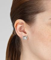 EARRINGS IN SILVER, INTRECCIATO DETAILS