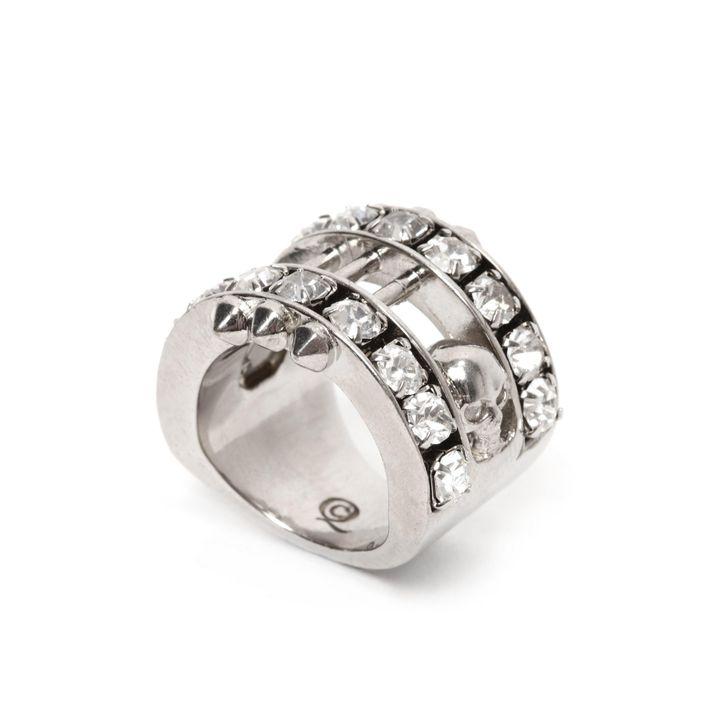 Alexander McQueen, Crystal Bar Skull Ring