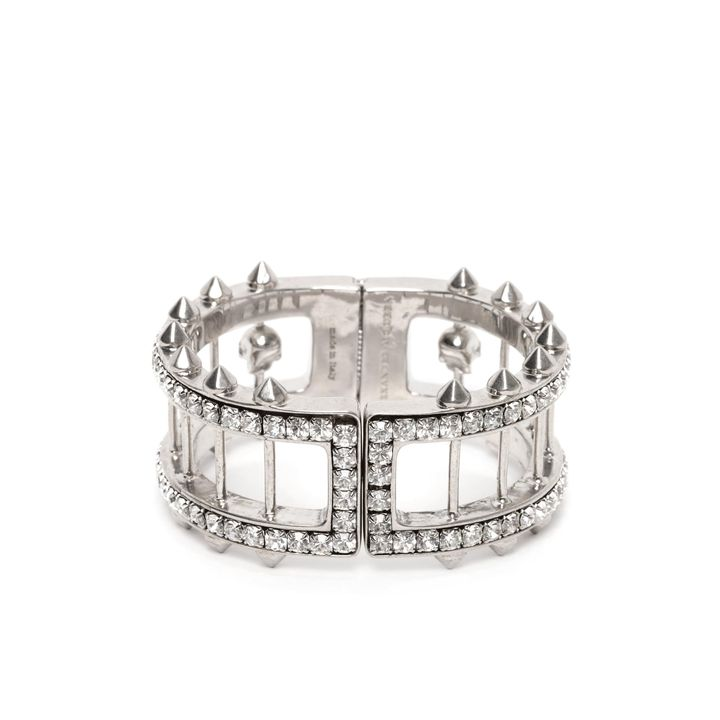 Alexander McQueen, Crystal Bar Skull Bangle