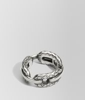 RING WITH INTRECCIATO SILVER DETAILS