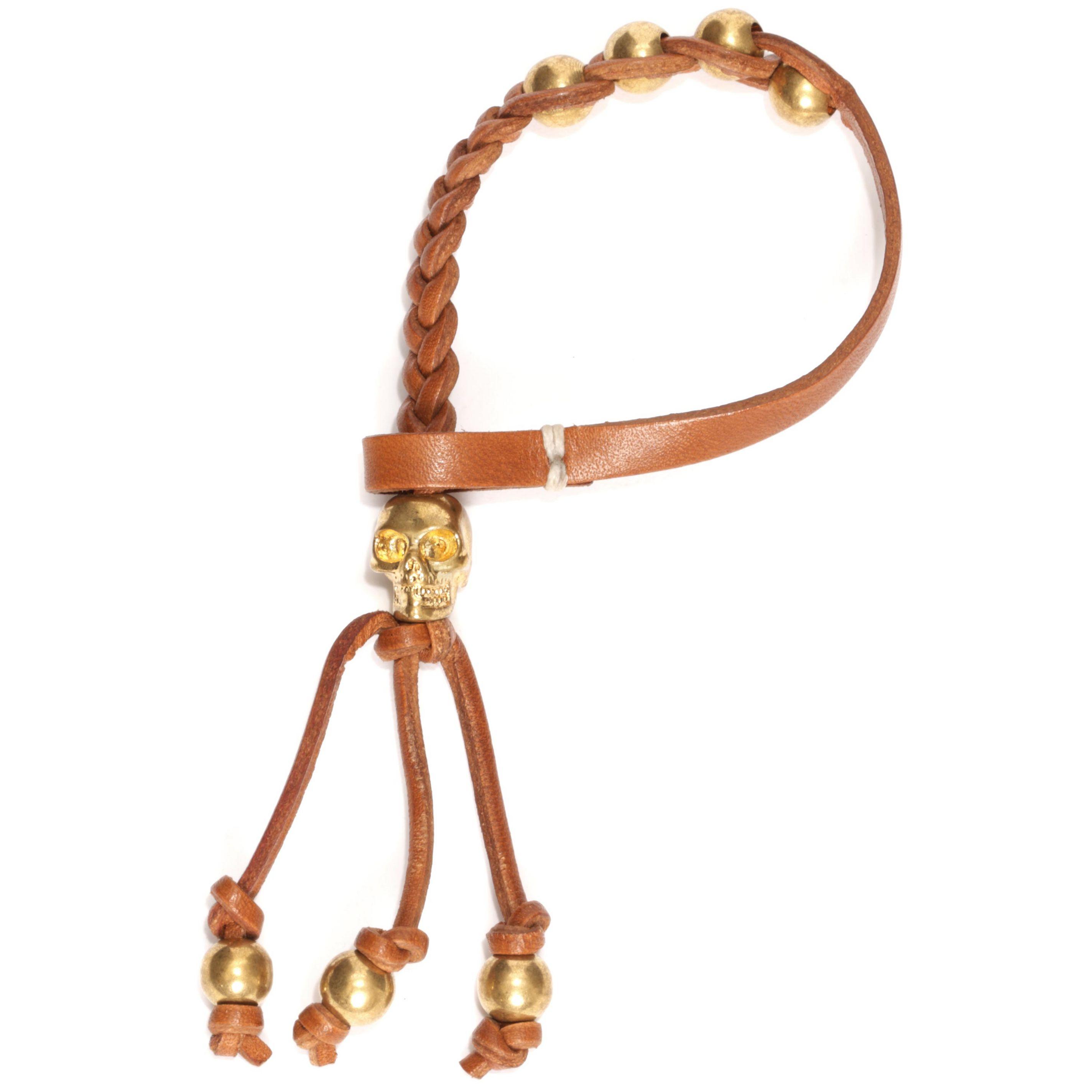 编织骷髅皮手环