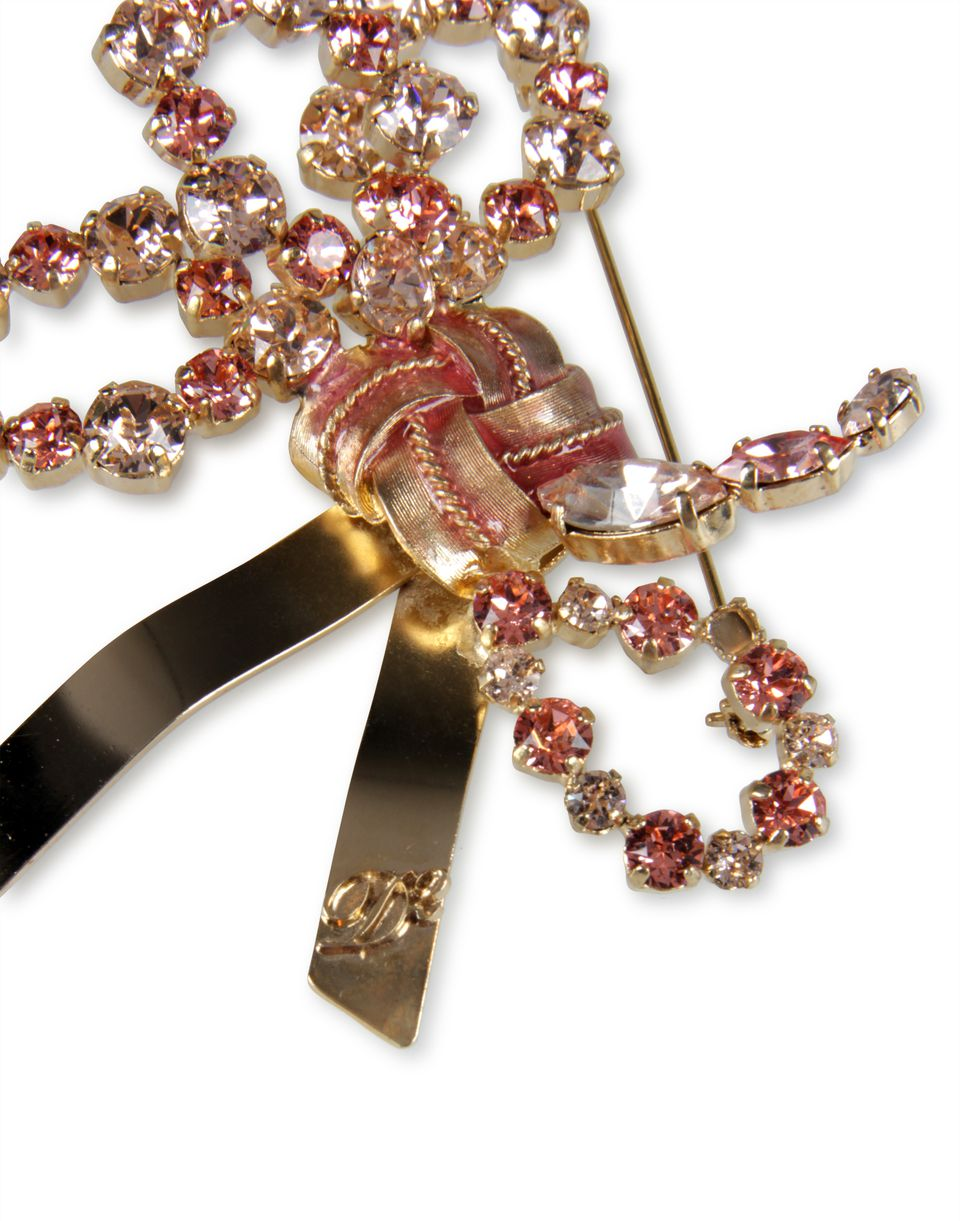 pink and black brooch jewels Woman Dsquared2
