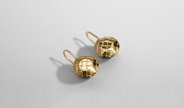ORO GIALLO      INTRECCIATO BURNISHED SILVER Earring