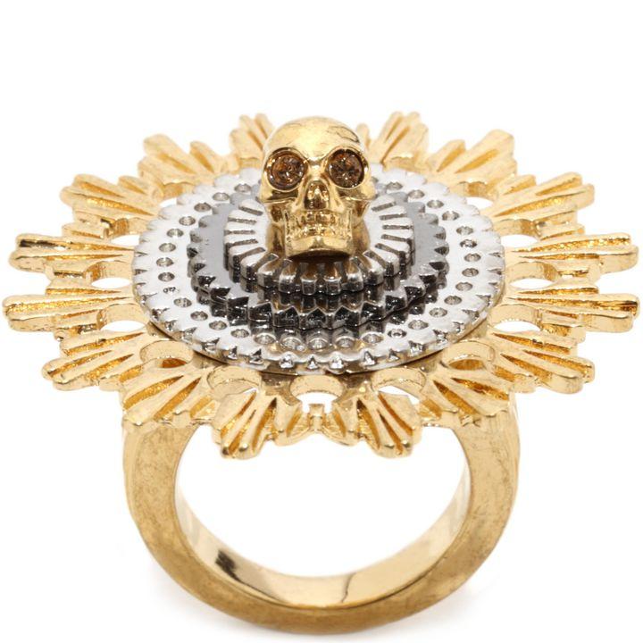 Alexander McQueen, Skull Flower Ring