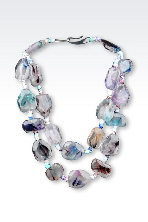 NECKLACE IN SILK AND RESIN: Necklaces Women by Armani - 1