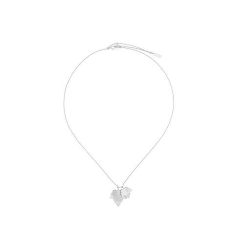 Balenciaga Silver Leaves Row Pendant