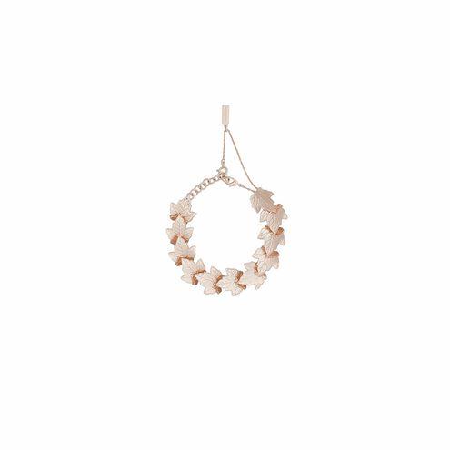 Balenciaga Rose Gold Leaves Row Bracelet
