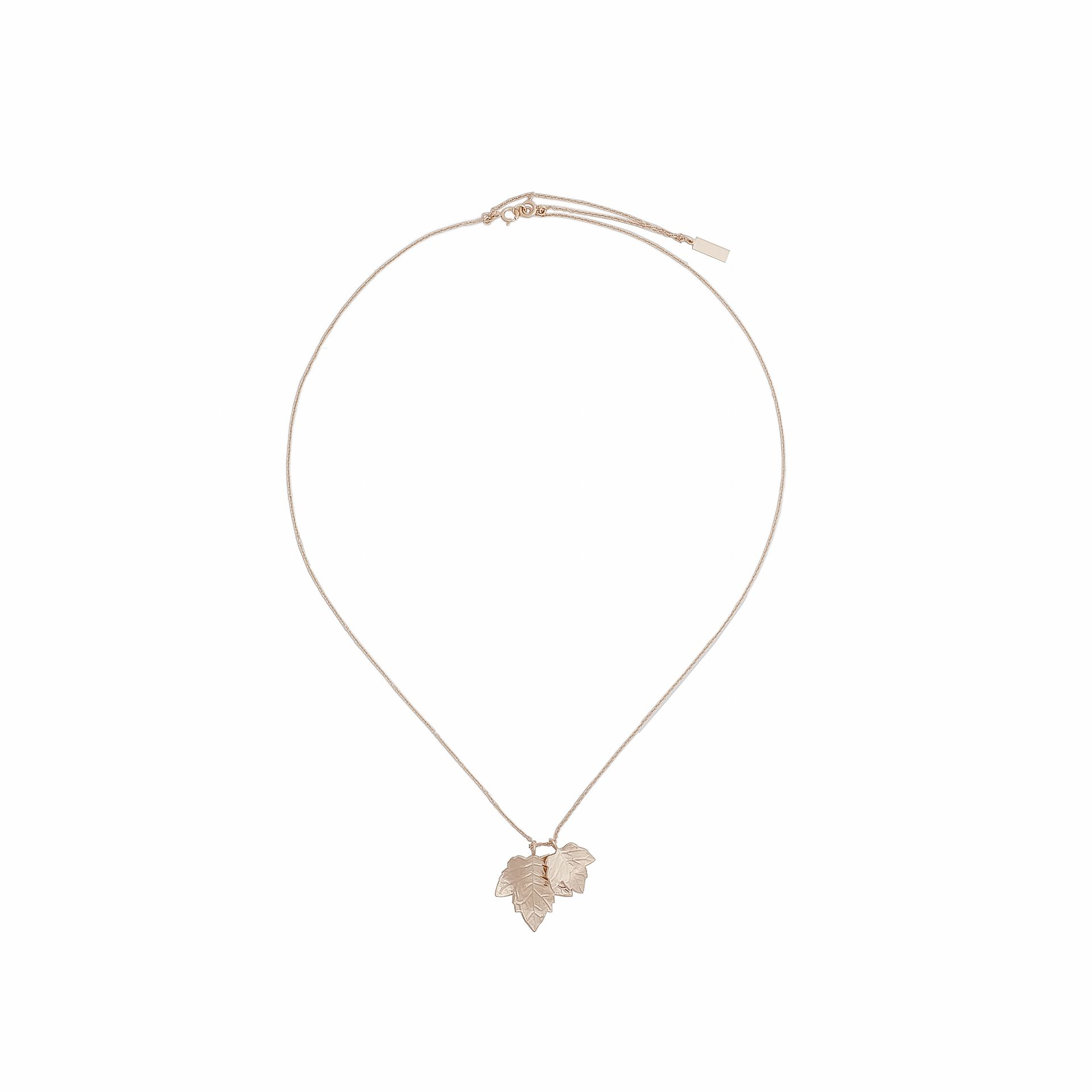 Balenciaga Rose Gold Leaves Row Pendant