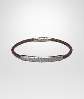 BRACELET IN EBANO INTRECCIATO NAPPA AND SILVER