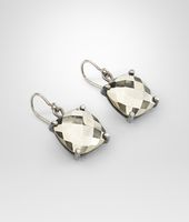 Pyrite Oxydized Silver Earrings