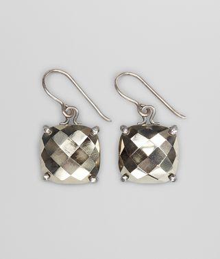 Pyrite Oxydized Silver Earrings