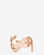 MONOGRAM CUFF IN ROSE GOLD-TONED BRASS