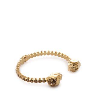 ALEXANDER MCQUEEN, Bracelet, Jewelled Twin Skull Bangle