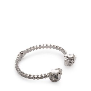 ALEXANDER MCQUEEN, Bracelet, Jewelled Twin Skull Bangle