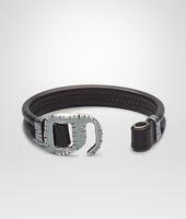 Nero Intrecciato Oxidized Silver Nappa Bracelet