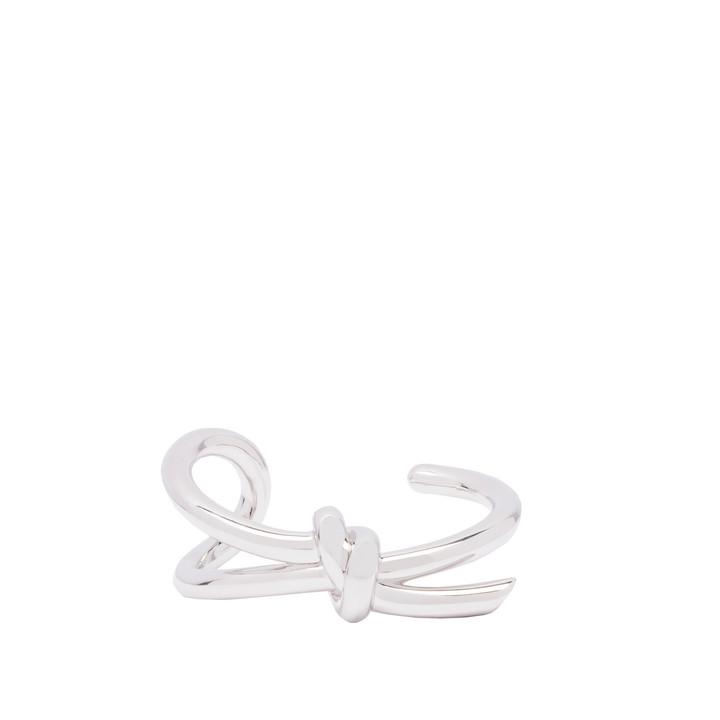 Balenciaga Silver Asymetric Bow Bracelet