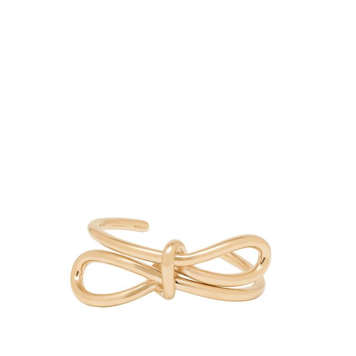 Balenciaga Pale Gold Boucle Bow Bracelet