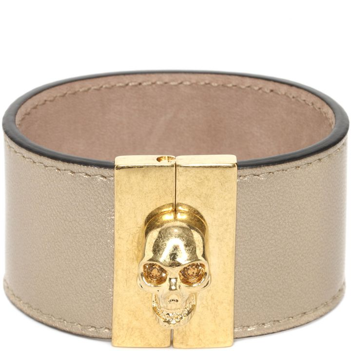 Alexander McQueen, Leather Skull Cuff