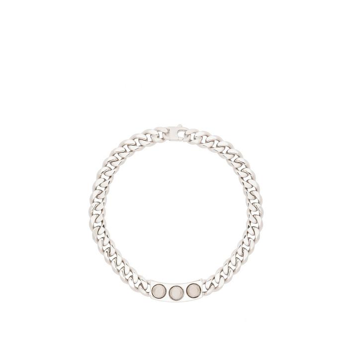 Balenciaga Classic Silver 3 Studs Necklace