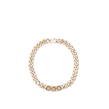 Balenciaga Classic Pale Gold 3 Studs Necklace