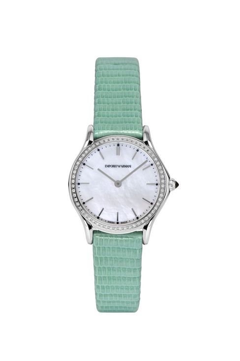 SWISS MADE QUARTZ WATCH WITH LIZARD STRAP