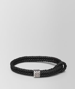 BRACELET IN NERO INTRECCIATO NAPPA AND SILVER