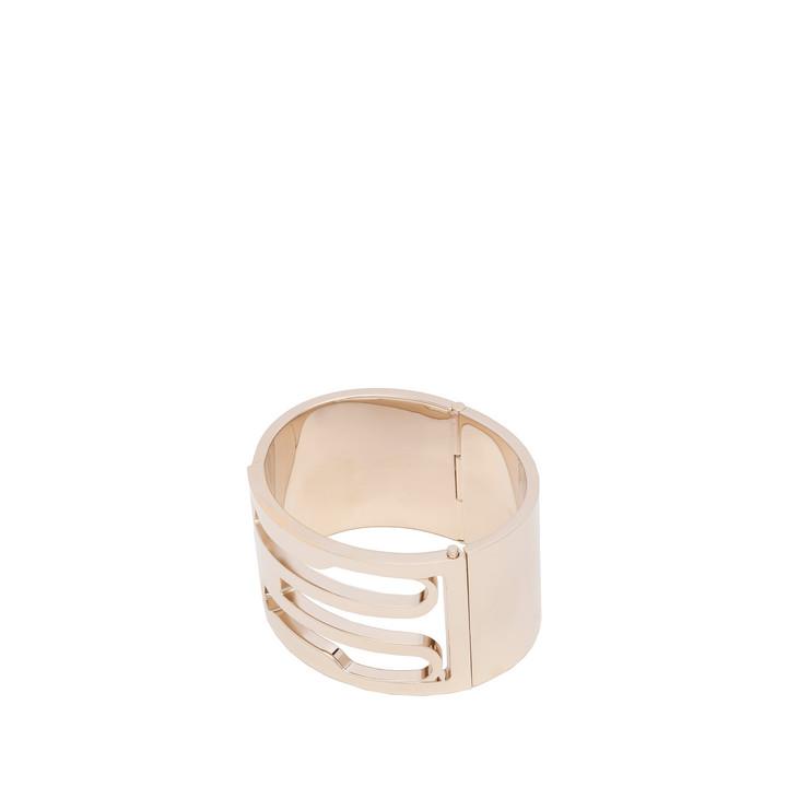 Balenciaga Pale Gold Buckle Cuff Bracelet