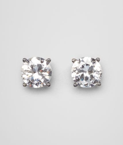 CUBIC ZIRCONIA OXIDISED SILVER EARRINGS
