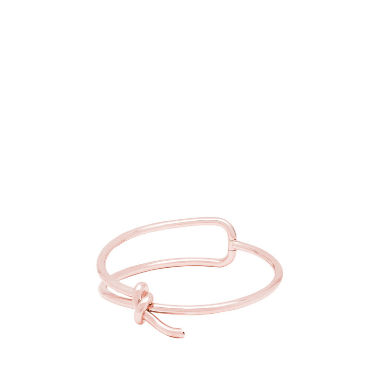 Balenciaga Rose Gold Asymetric Bow Necklace