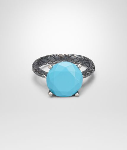 TURQUOISE OXIDIZED SILVER RING