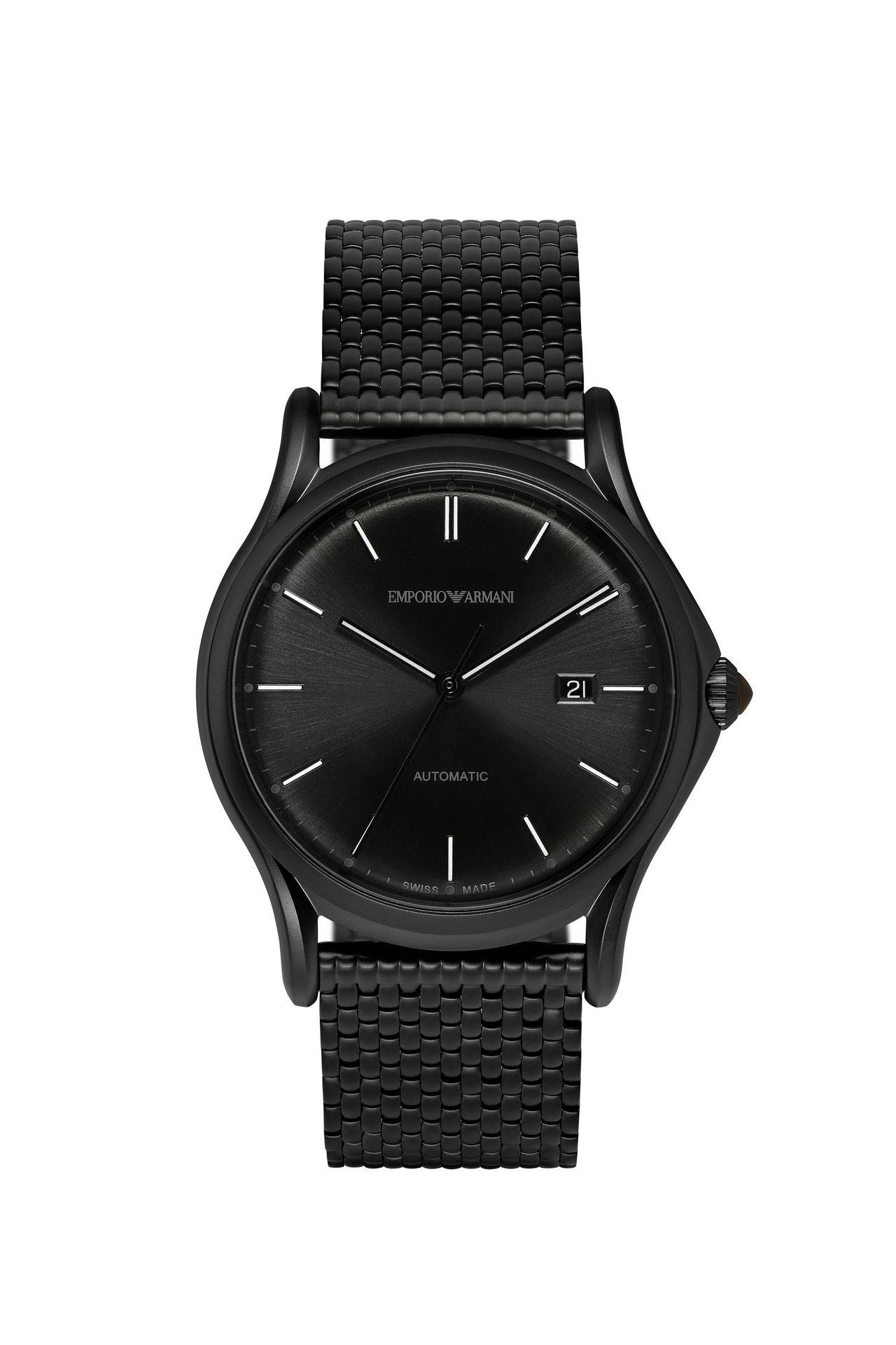 emporio armani men swiss made automatic watch steel strap swiss made automatic watch steel strap swiss made watches men by armani 0
