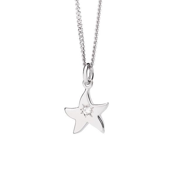 Petit dodo starfish necklace white gold diamond dodo official petit dodo starfish necklace white gold diamond dodo official online store mozeypictures Choice Image