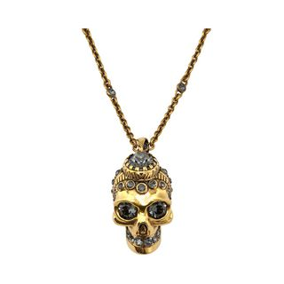 ALEXANDER MCQUEEN, Necklace, Victorian Jeweled Skull Necklace
