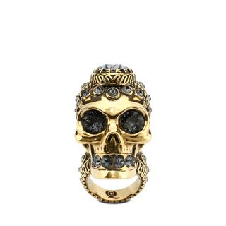 ALEXANDER MCQUEEN, Ring, Victorian Jeweled Skull Ring
