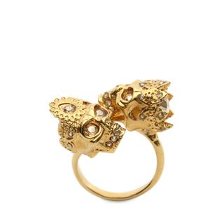 ALEXANDER MCQUEEN, Ring, Queen and King Skull Ring